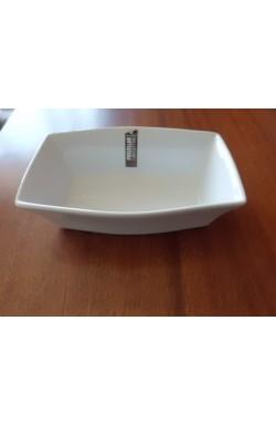 Assadeira Retangular em Porcelana Branca - 20 x 13 x 6 cm