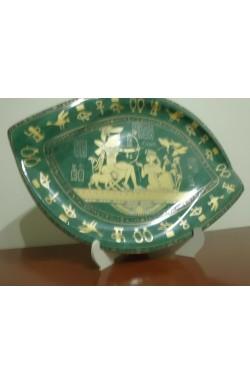 Prato Egípcio Porcelana Verde
