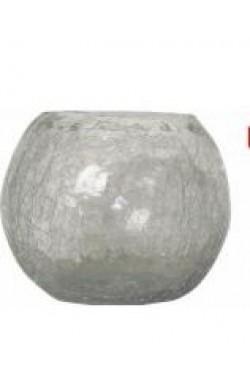 Vaso em vidro craquelet bowl pequeno (20 x 20 x 16,6 cm)